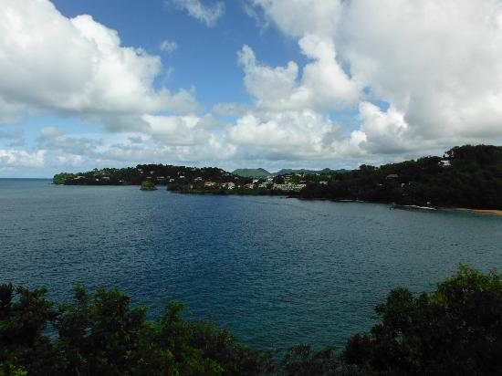 Sandals Regency La Toc Golf Resort and Spa: View across the bay towards Castries