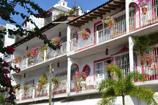 Old Vallarta: Beautiful balconies in Old Towne -- Puerto Vallarta