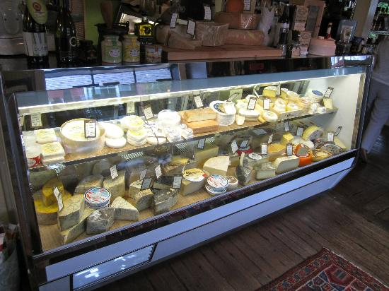 the brown Jug: The huge cheese counter!