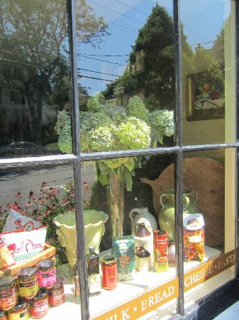 the brown Jug: Pretty window display with the Cape's flower
