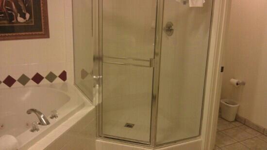 WorldMark Running Y: steam shower and soaker tub in master ensuite
