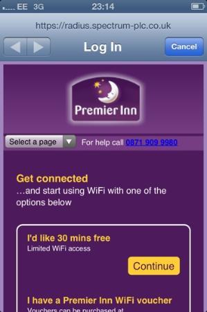 does premier inn have free wifi