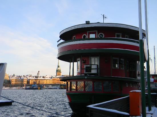 The Red Boat Hotel & Hostel: The Red Boat with the view on the Old Town