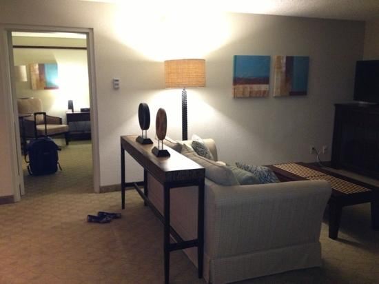 Hilton Garden Inn Orlando at SeaWorld: our suite!