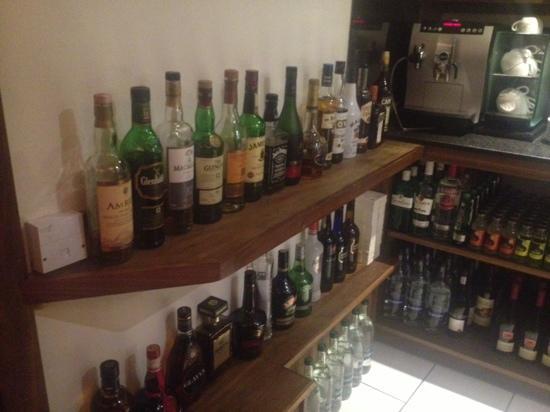 Sheray Punjab: good range of liqueurs
