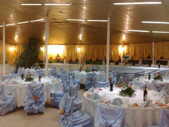 Caluso, Italy: Salone preparato per un matrimonio