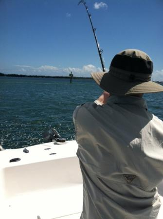 Something Fishy Charters: Realing in the monster Tarpon