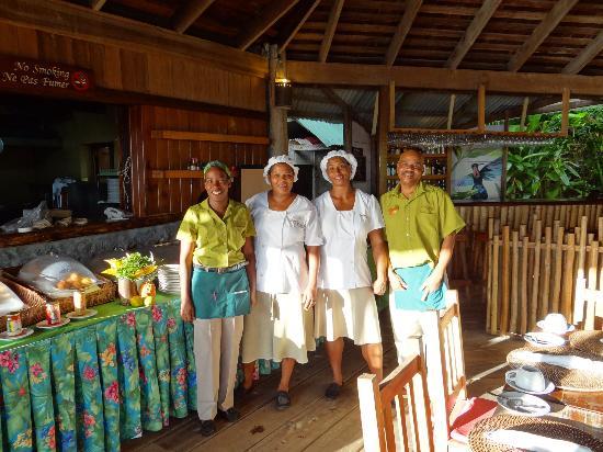Jungle Bay, Dominica: The Wonderful restaurant staff