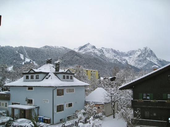Reindl's Partenkirchner Hof: View from room 1109 of The Zugspizter and Alps!