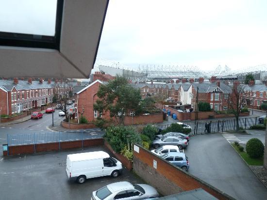 Chesters Hotel and Restaurant: view from room-Old Trafford stadium