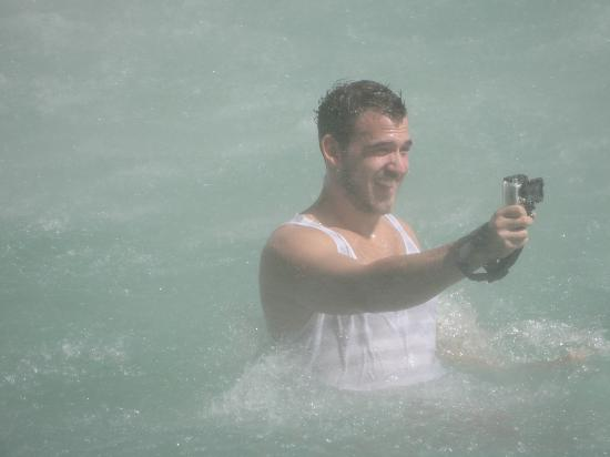 Victoria Falls: Adventure photographer Mike taking his own picture for his blog