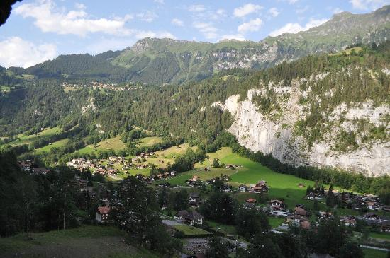 Hotel Staubbach: View from the hike behind the falls