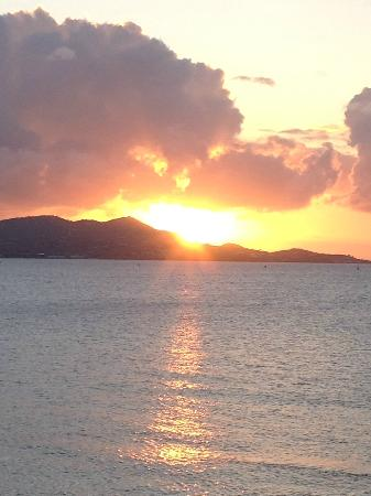 The Buccaneer -- St Croix: Sunset view from my room terrace