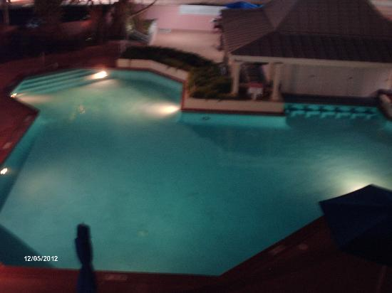Comfort Suites Paradise Island: View of the pool from our window (R346)