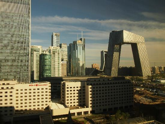 Shangri-La's China World Hotel: CCTV building from China World Hotel