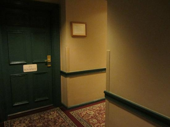 Admiral Fell Inn: Door to room 211.