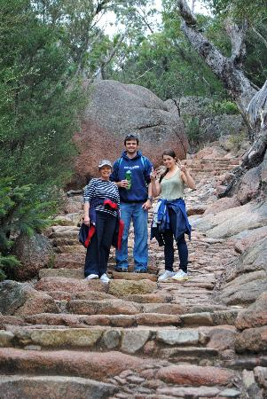 Wineglass Bay Lookout: On the walk up