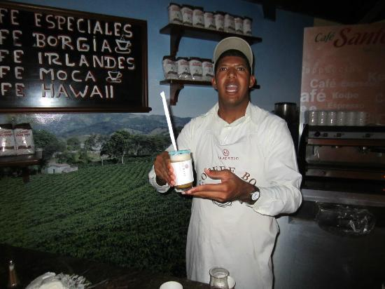 Hotel Majestic Colonial Punta Cana: Rapheal who make the best special coffees in the dining room