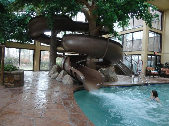 Park Vista - DoubleTree by Hilton Hotel - Gatlinburg: 1 of the 2 pool slides