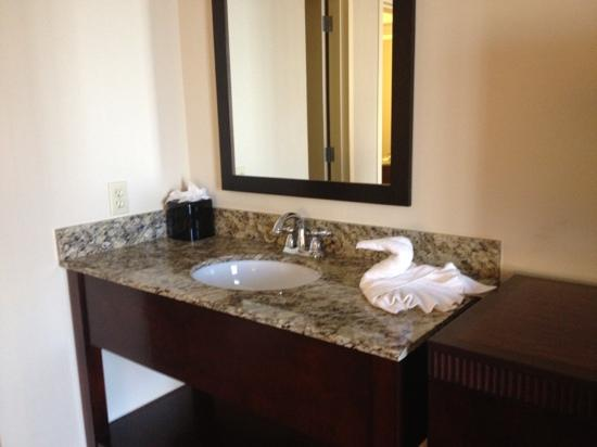 Embassy Suites by Hilton Dallas - Market Center: sink in bedroom area