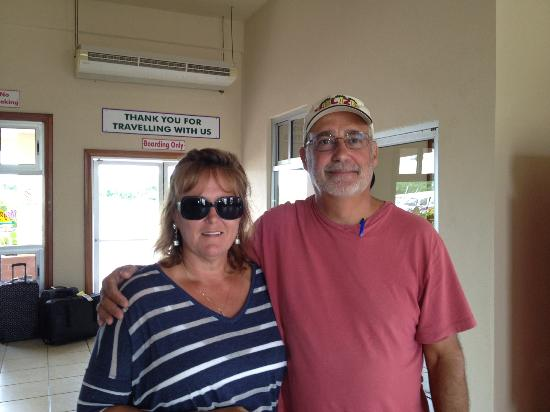 Caribbean Shores Bed & Breakfast: Cindy and Joe