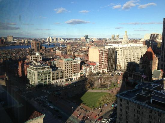 The Westin Copley Place, Boston: Sunnier morning view from our corner room junior suite on our last day