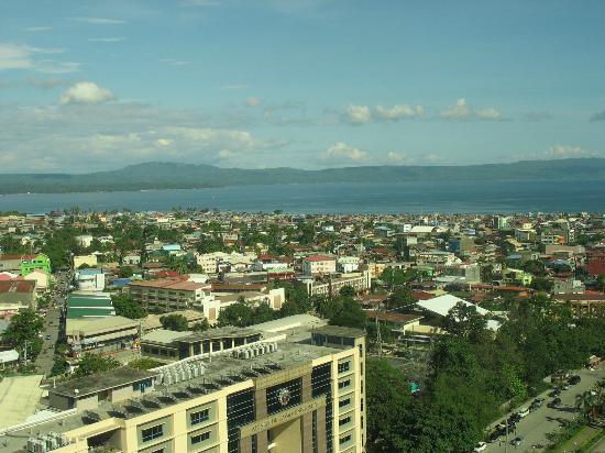 Marco Polo Davao: View of the Gulf of Davao from the Continental Club lounge
