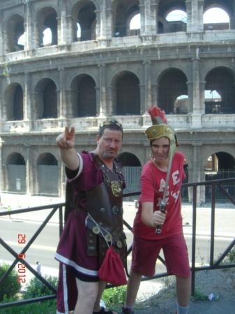 """Rome Tour Guide Tours : My son enjoyed playing """"gladiators"""" at the Colosseum"""