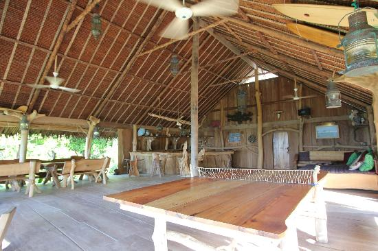 Togat Nusa Retreat: This is the restaurant and bar, the common area/beach house.