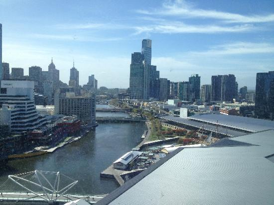 Hilton Melbourne South Wharf: view from city view deluxe room