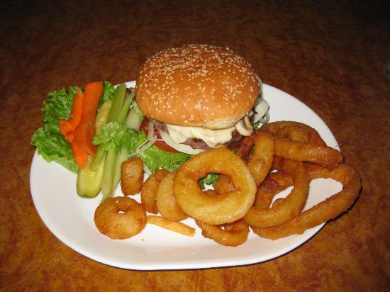 Hitching Post : Mushroom Swiss burger