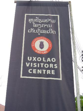 UXO Laos Visitor Center: Banner