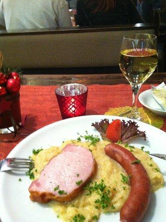 Restaurant Weinstube Zum Landsknecht: Winterteller viel me tegen :(