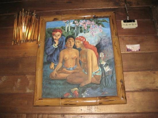 Koh Tao Cabana: Bizarre art work in the room
