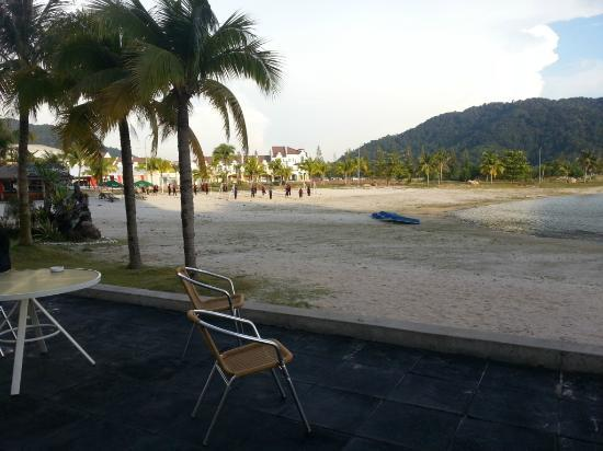 Marina Island Pangkor Resort & Hotel: Looking towards the man-made beach