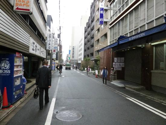 Via Inn Kyoto Shijo Muromachi: the road infront of the hotel 