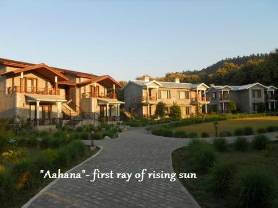 Aahana the Corbett Wilderness - an Eco Friendly Resort: First ray of sun