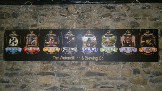 Watermill Inn & Brewing Co.: Selection of Beers brewed on site