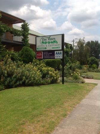 The Vines Motel : beautiful gardens, great service