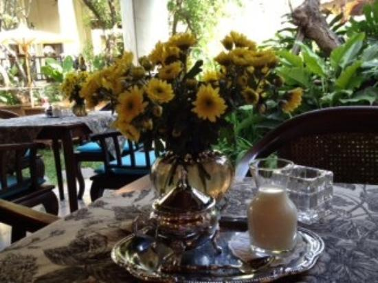 Puripunn Baby Grand Boutique Hotel: breakfast table, always so pretty