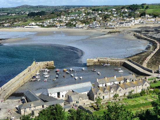 St. Michael's Mount: The Town of Marazion from St. Michaels Mount