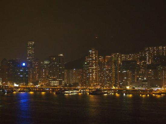 Harbour Grand Kowloon: View from our Suite towards Hong Kong Island
