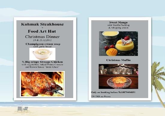 Koh Mak Restaurant Food Art Hut & German Bakery: Cristmas at Kohmak 2012