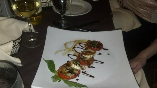 Aldo's Cucina Italiana: Caprese of Fresh Roasted Tomatoes, Fresh Mozzarella and Basil Leaves