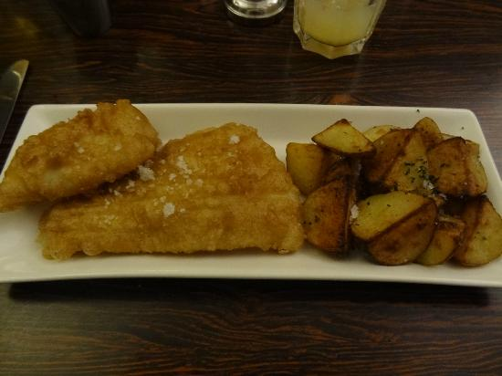 Fried ling with mango skyronnaise and potatoes picture for Icelandic fish and chips nyc