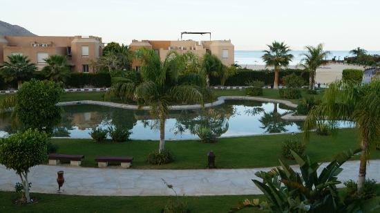 Movenpick Resort El Sokhna: View of the gardens directly in front of our balcony