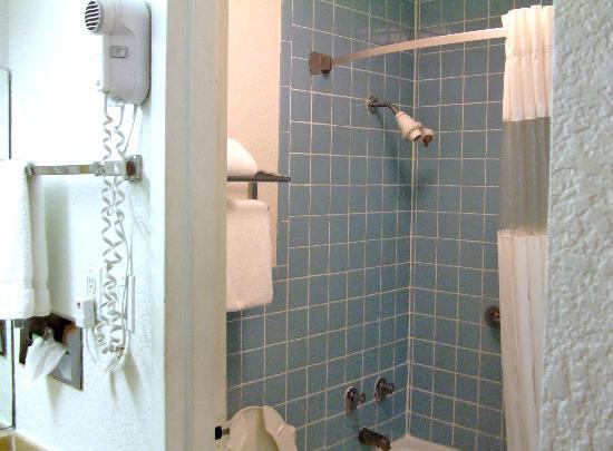 Ramada Fort Lauderdale Airport/Cruise Port: Shower area of Bathroom
