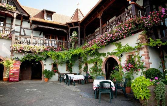 Hotel Kieffer: lovely yard of Kieffer