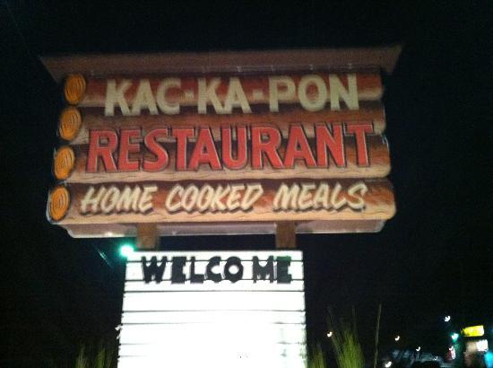 Kac-Ka-Pon Restaurant: Sign - captured our attention