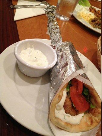 falafel wrap at Anatolian Kitchen